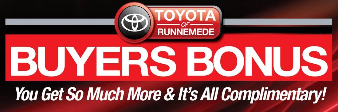 Toyota Of Runnemede Nj Buyers Bonus Program