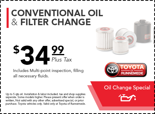 Toyota Oil Change Coupon >> Toyota Of Runnemede Nj Toyota Service Coupons