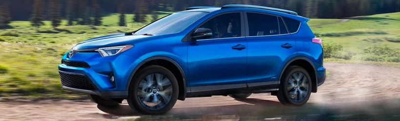 The New 2018 Toyota RAV4 in blue