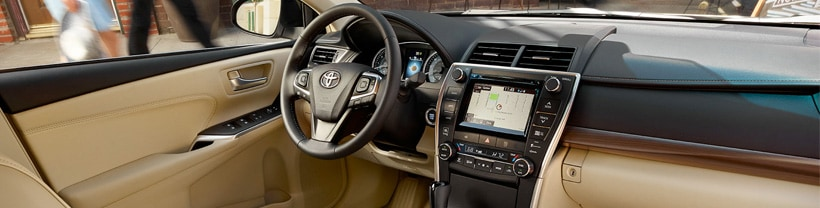 View the interior of a new 2017 Camry