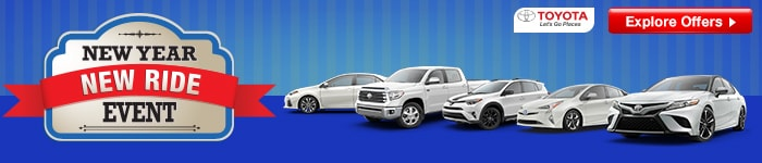 Toyota New Year - New Ride Sales Event is on at Toyota of Santa Barbara in Goleta, CA