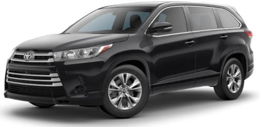 Toyota Highlander lease offer at Toyota of Santa Barbara