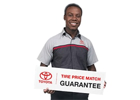 Tire Price Match Guarantee at Toyota Santa Barbara