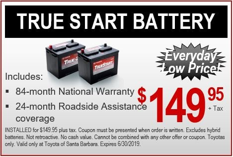 Toyota Battery Coupons Toyota Special Offers Near Ventura Ca