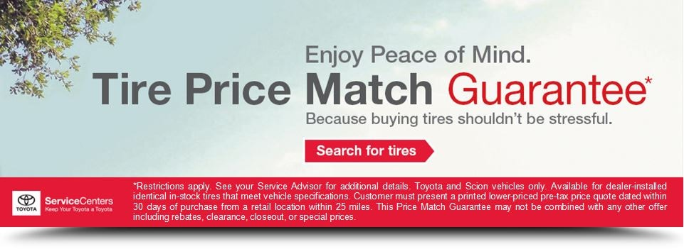 Tire Prices, Tire Discounts and Tire Price Match Guarantee in Roseville, CA