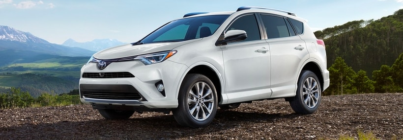 The New 2018 Toyota RAV4 exterior in white