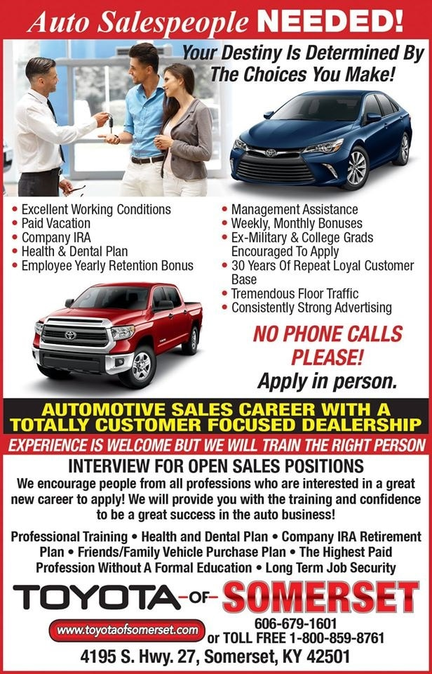 Employment Opportunity Toyota Of Somerset