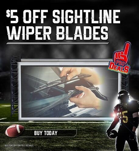 $5 Off Sightline Wiper Blades