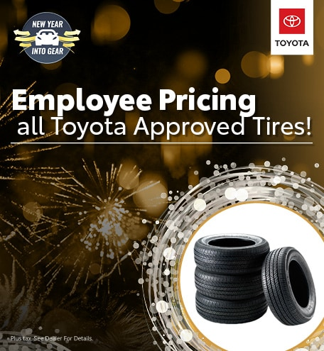 Employee Pricing on Toyota Approved Tires