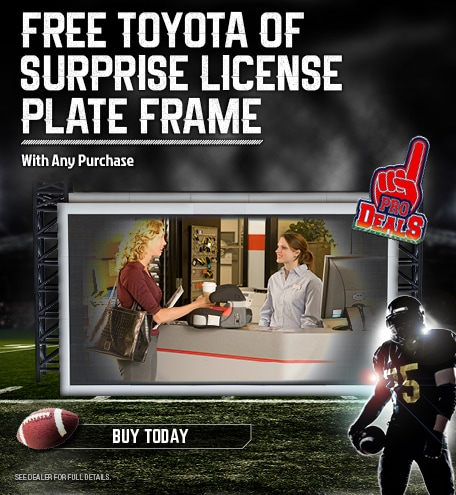 Free Toyota Of Surprise License Plate Frame