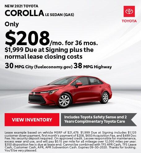 2020 - Corolla - September