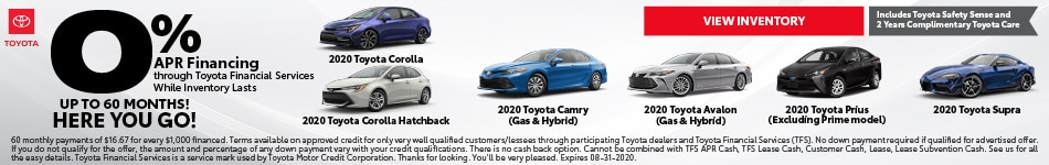 2020 - 0% Camry - August