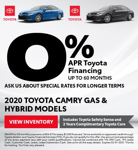 2021 - Camry gas/hybrid - January