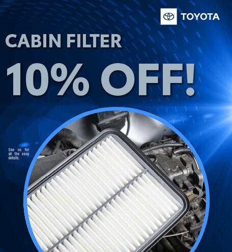 Cabin Filter 10% Off