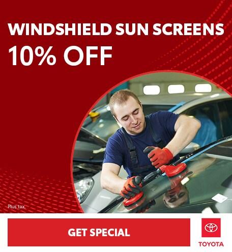 Windshield Sun Screens 10% Off