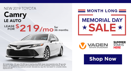 Toyota Lease Deals >> Toyota Lease Deals Incentives Sylacauga Al Near Chelsea Anniston
