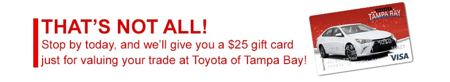 Get a Gift Card at Toyota of Tampa Bay