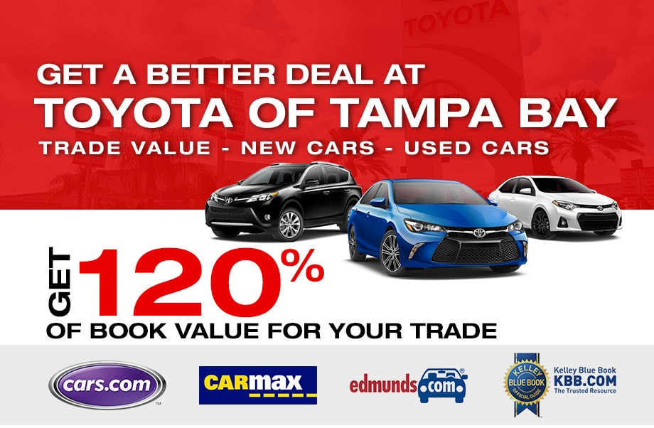 Trade-In Used Toyota Tampa | Get 120% of Book Value for Your Trade