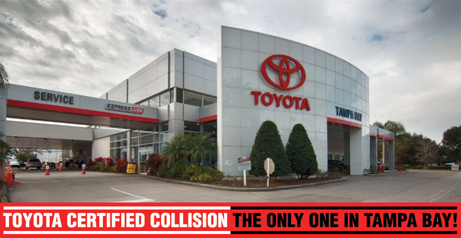 Auto body repair shop, Toyota Collision Center, Toyota of Tampa Bay, Brandon, Tampa, Wesley Chapel