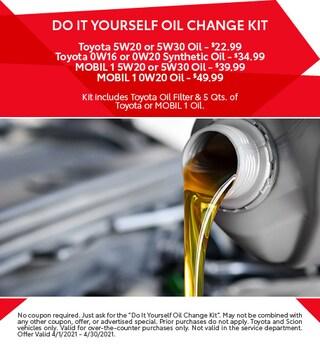 April - DIY Oil Change Kit