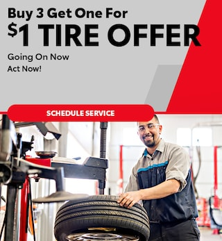 Buy 3 Get One For $1 Tire Offer - April