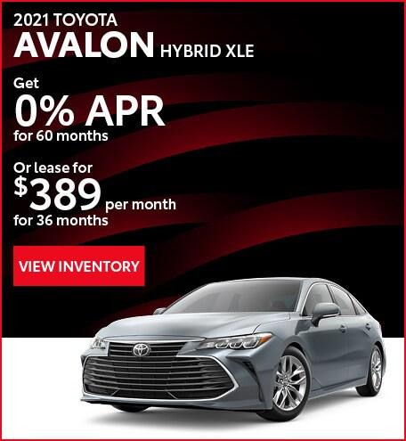 April - 2021 Avalon Hybrid