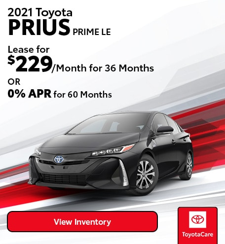 January Lease - 2021 Toyota PRIUS PRIME LE