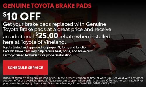 $10 Off Brake Pads