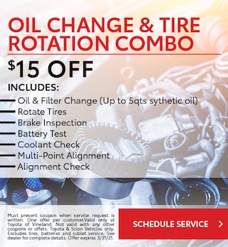 January Oil Change and Tire Rotation