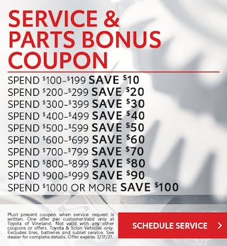 January Service and Parts Bonus