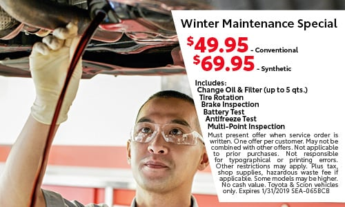 Winter Maintenance Special