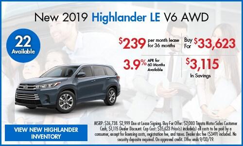 New 2019 Highlander