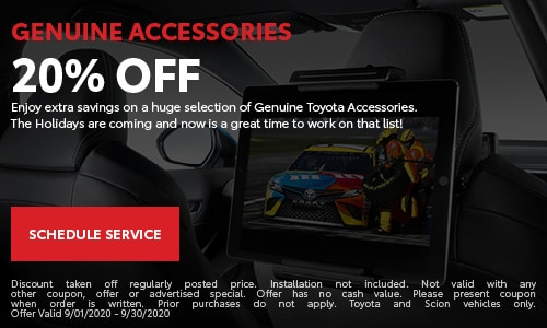 20% Off Genuine Accessories