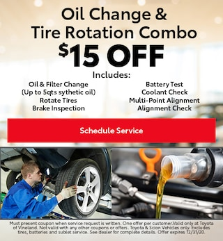 October Oil Change & Tire Rotation Combo