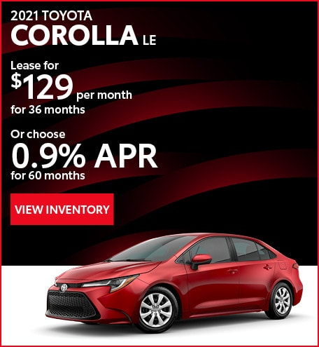 April - 2021 Corolla