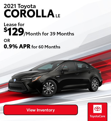January Lease - 2021 Toyota COROLLA LE