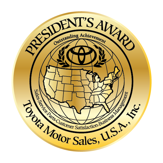 Toyota of Watertown 2019 President's Award Winner