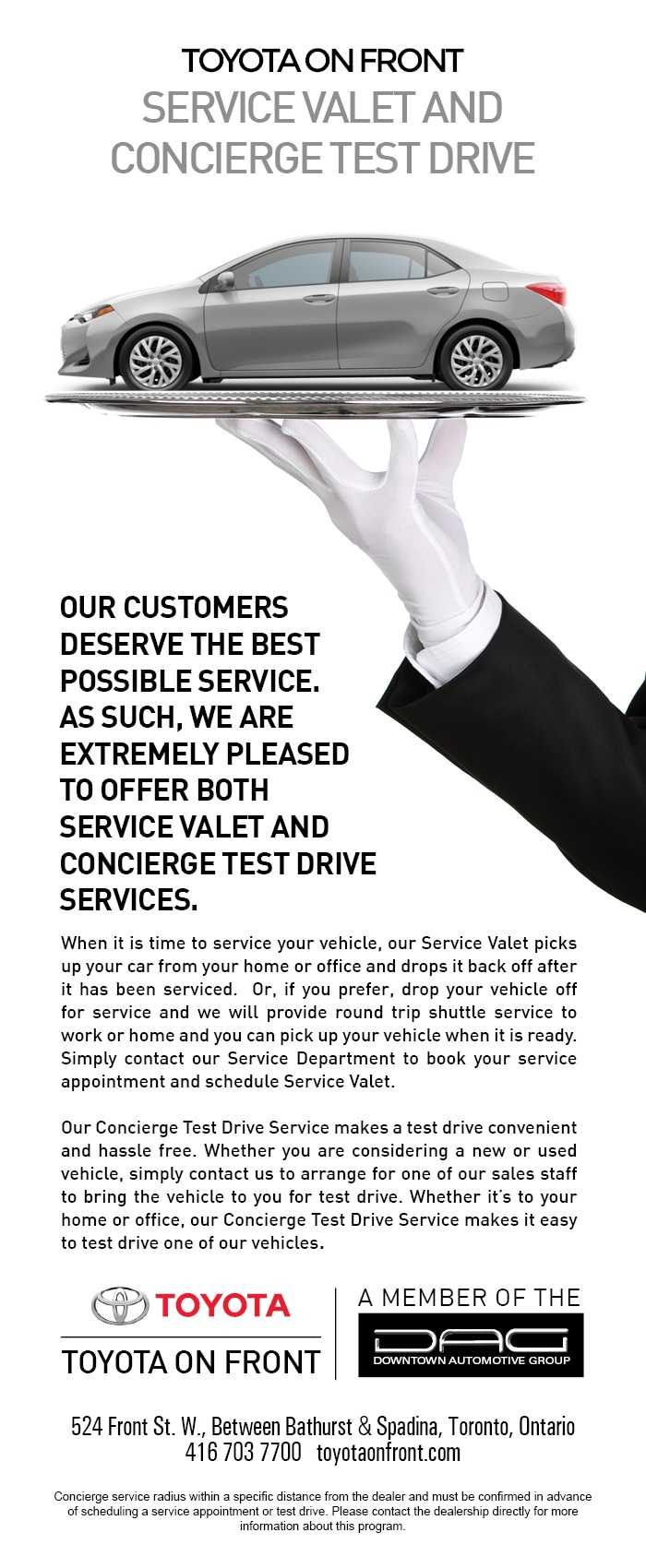 Toyota on Front | Concierge Service