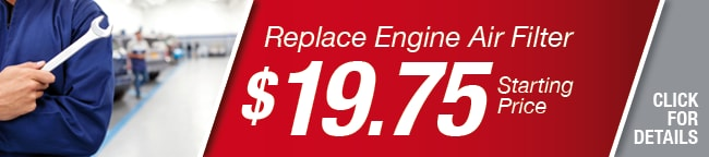 Replace Engine Air Filter Coupon, Richardson