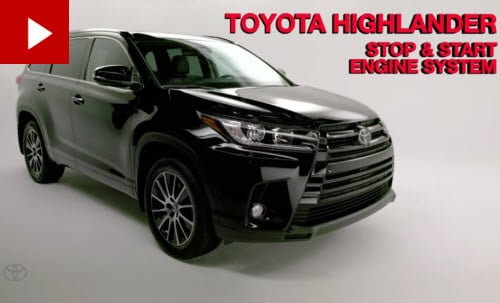 Toyota Highlander Stop/Start Engine