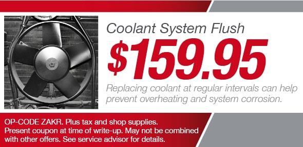 toyota sienna coolant flush cost