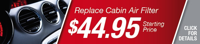 Replace Cabin Air Filter Coupon, Richardson
