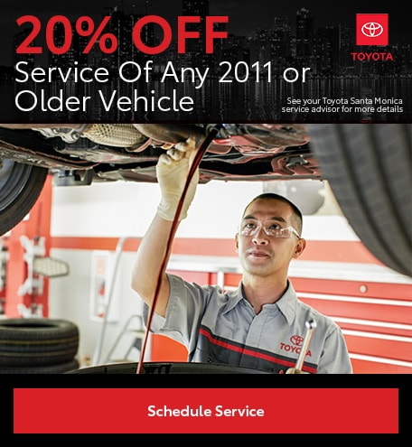 20% Off Service Of Any 2011 or Older Vehicle