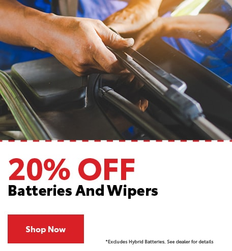20% Off Batteries And Wipers