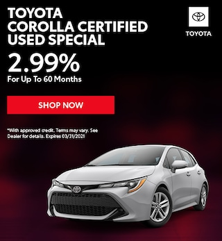 Toyota Corolla Certified Used Special
