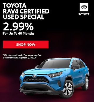 Toyota RAV4 Certified Used Special