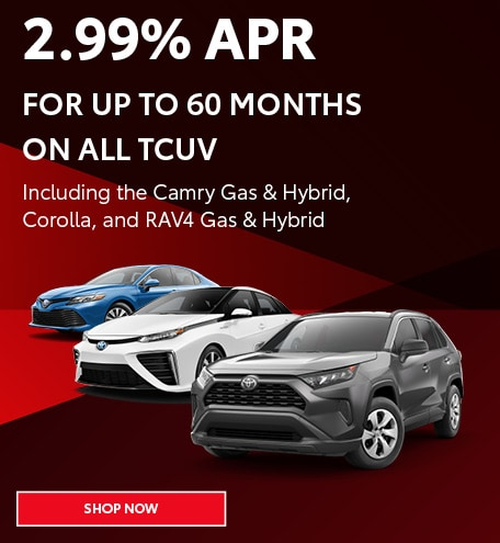 2.99% APR For Up To 60 Months On All TCUV