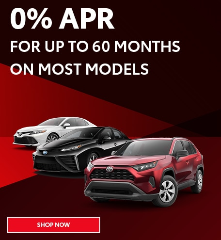 0% APR For Up to 60 Months On Most Models