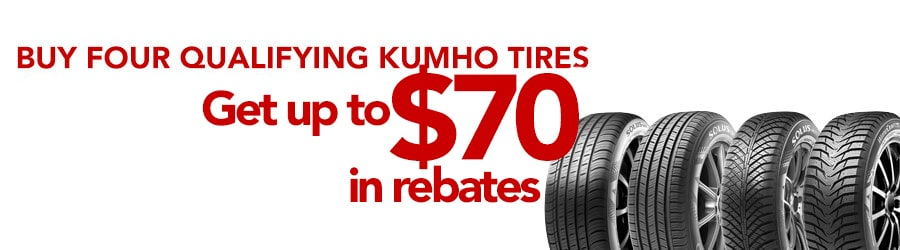 Buy 4 Select Kumho Tires Get Up To 70 In Rebates Greenville