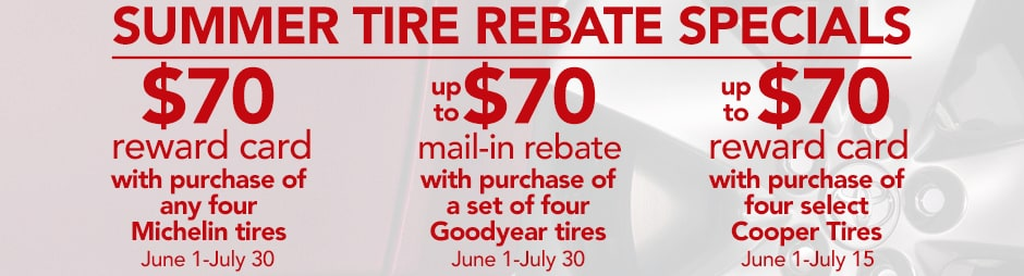 Toyota Summer Tire Rebate Specials